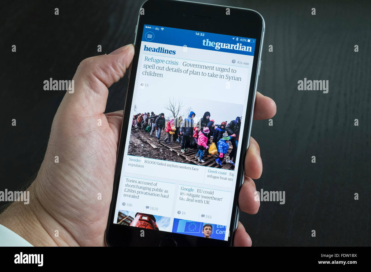 The Guardian Online Stock Photos