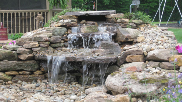 Klein's Lawn & Landscaping   Water Features   Pondless Waterfalls