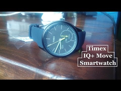 Timex iQ plus smart watch hand on ll review
