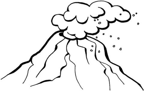 Dibujo Volcan