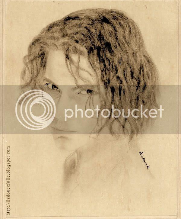 Michael Hutchence INXS portrait drawing liz douce folie lizdoucefolie