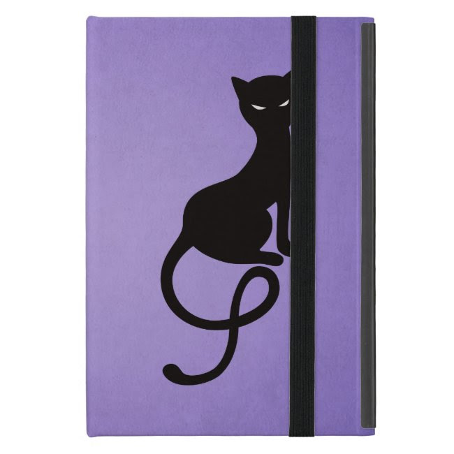 Purple Gracious Evil Black Cat Folio