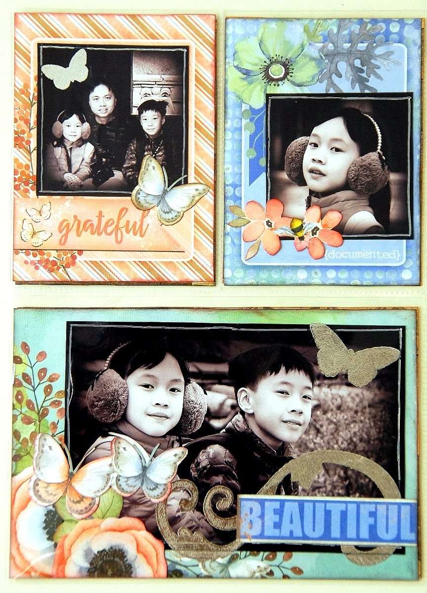 Fabulous Misc Me Pages by Irene Tan using BoBunny Butterfly Kisses Collection