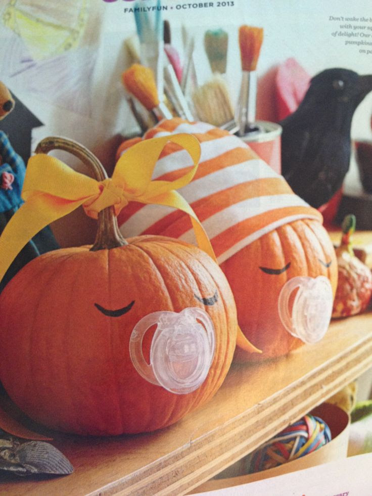 Perfect for our friends who just became grandparents in October! Cute pumpkin decorating idea! #Halloween