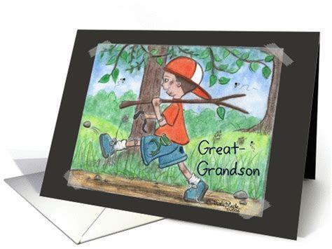 All Boy  Birthday great grandson card (340080)