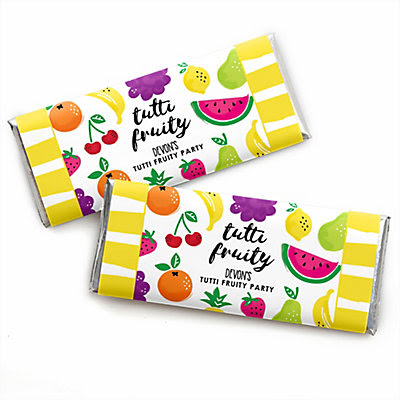 Tutti Fruity - Personalized Frutti Summer Baby Shower or Birthday Party Candy Bar Wrapper Favors
