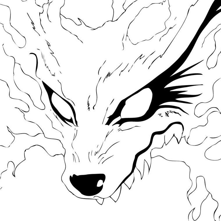Coloriage A Imprimer Kiubi Le Demon Renard De Naruto Gratuit Et Colorier
