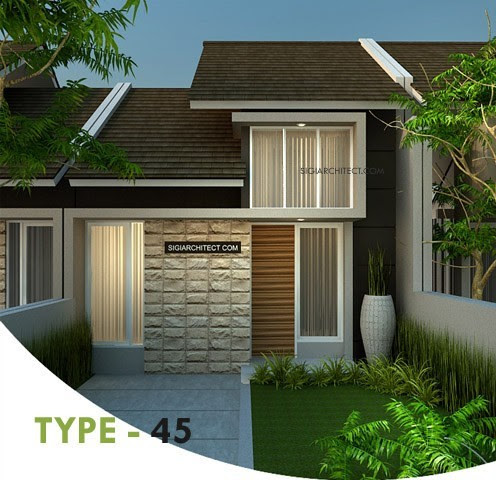 Desain Rumah MinimalisType-45 Tropis