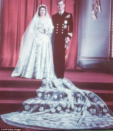 The Queen's 70 year old wedding dress hasn't dated at all