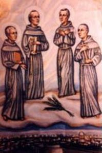 St. Nicholas Tavelic, Stephen of Cuneo, Deodato Aribert from Ruticinio and Peter of Narbonne