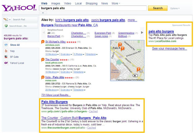 Yahoo Starts including Microsoft search results - paid and organic