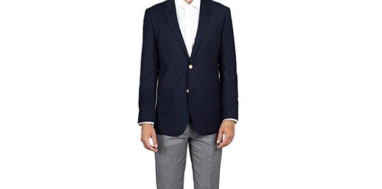 Black Jacket Grey Pants