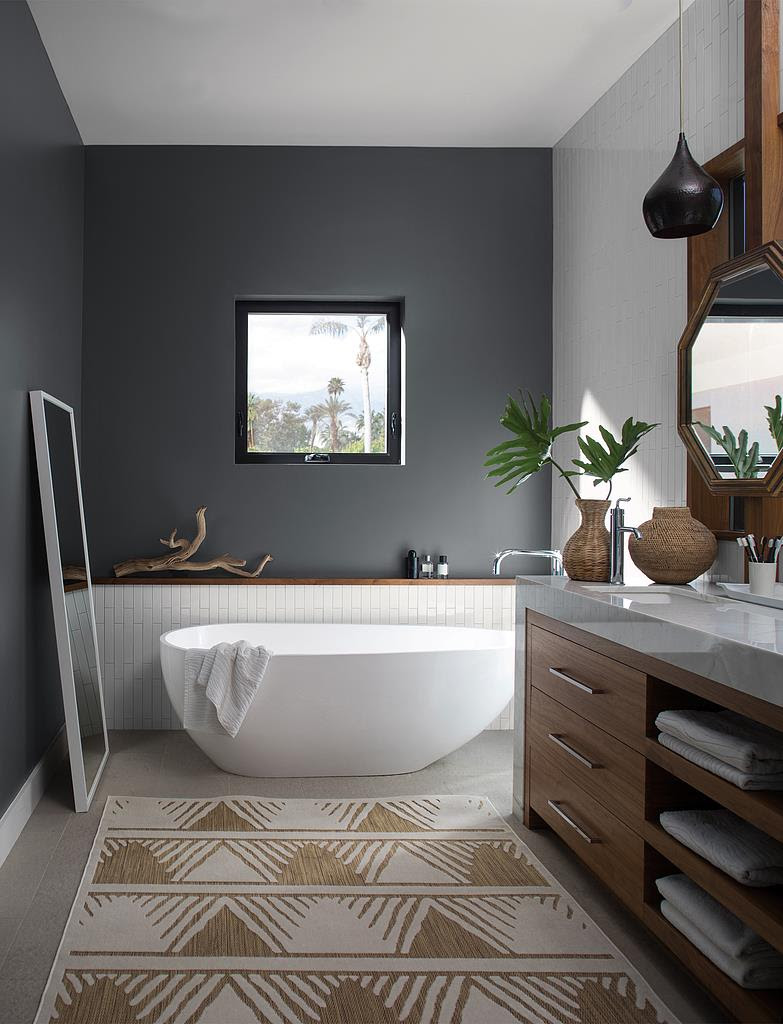 Benjamin Moore Gray Paint Schenectady | Bathroom Paint ...