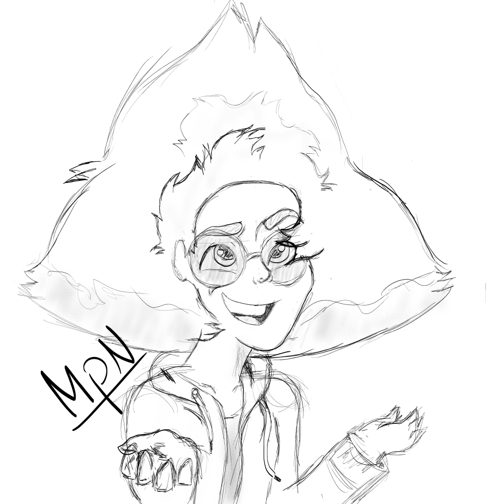 This is what my Human Peridot looks like! This is the Peridot you'll be seeing in my comics. All I have to do is figure out how to draw the other characters and handle some plot stuff. Next up is...
