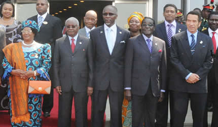 Participants in the heads-of-state gathering of the Southern African Development Community (SADC)  which met in Lilongwe, Malawi on August 17 and 18, 2013. by Pan-African News Wire File Photos