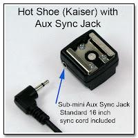 HS1011: Hot Shoe (Kaiser) with Aux Sync Jack