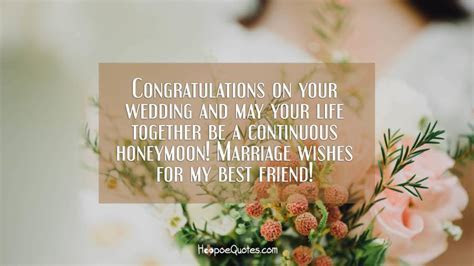 Congratulations on your wedding and may your life together