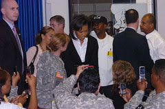 First Lady Michelle Obama visits Bragg