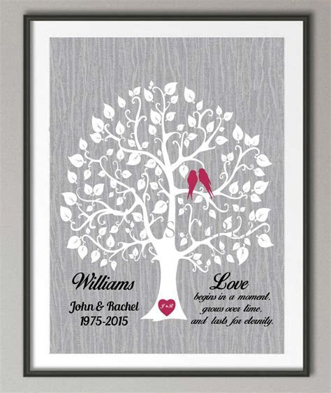 25th Wedding Anniversary poster print pictures canvas