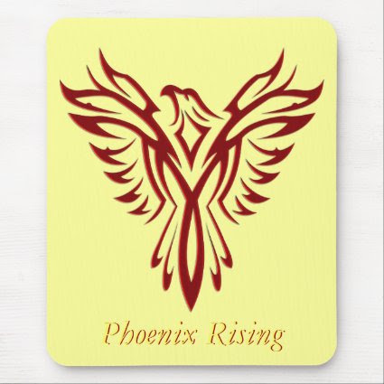 Crimson Phoenix Rising Mousepad