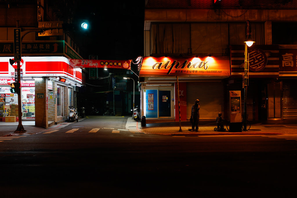午夜的街頭