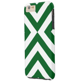 Dark Green and White Chevrons iPhone 6 Plus Case