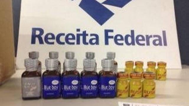 """Os frascos de """"Poppers"""" apreendidos no aeroporto"""
