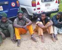 Photo released by the Nigerian Guardian of purported suspects in the gang-rape of a student in Kano in the north of the West African country. The video of the assault has provoked national outrage. by Pan-African News Wire File Photos