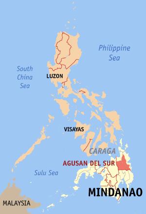 Agusan del Sur Map
