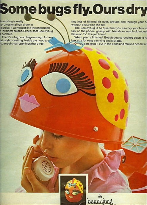 Beautybug hair dryer, 1960s