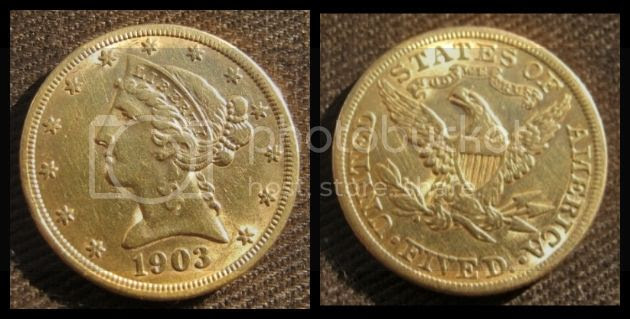 American Five Dollar Gold Coin