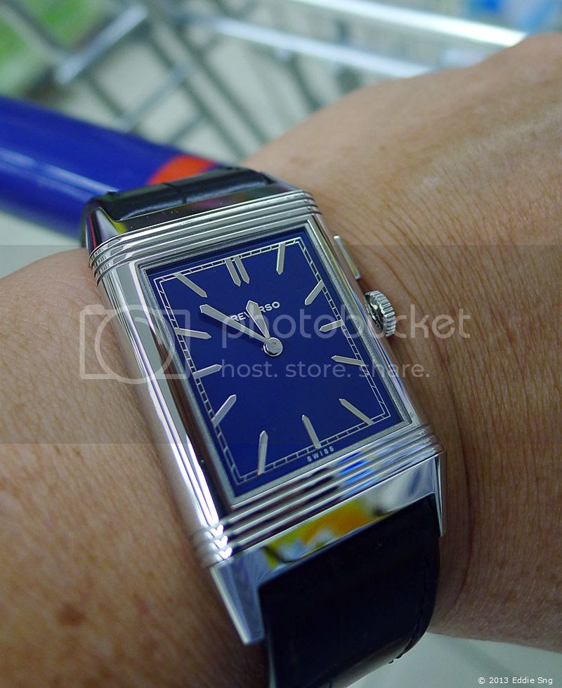JLC Reverso Blue Wrist Shot photo JLCReversoBoutiqueEditionBlueWristShot01.jpg