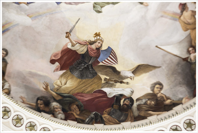 In The Capitol 5 (Apotheosis of Washington detail 1)