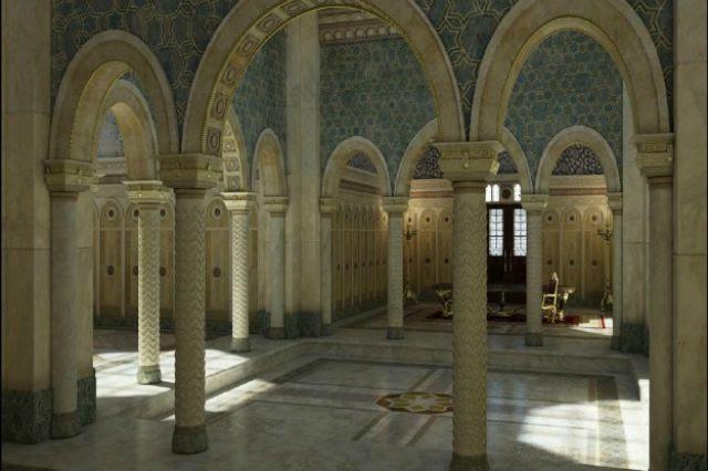 الفخامة في التصميم داخل القصر