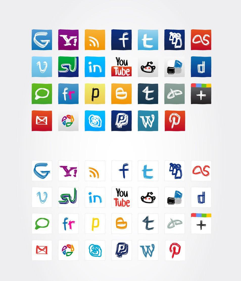 Social media icons 2012 update
