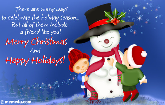 Xmas Greetings for friends