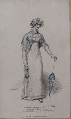 Regency fashion plate and parasol