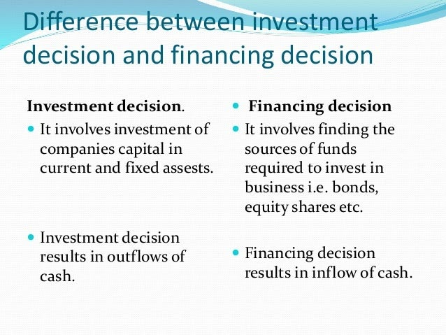 Investment decision vs financing decision and capital structure rhb investment bank jalan tun razak accident