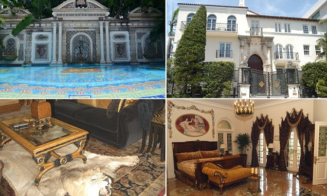 13 Sep 2013, Miami, Florida, USA --- The famously extravagant South Beach mansion once belonging to the late fashion designer, Gianni Versace, is going up for sale in an auction September 17. The property is set to be sold at a Sept. 17 auction, but the debtor, Casa Casuarina LLC, hopes to obtain a declaration that Barton G has no possessory rights to the property before that date. Photo 06/08/2012 Pictured: general view  --- Image by © Chris Bott/ /Splash News/Corbis