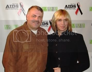 Wolfgang Busch and fashion designer Marc Bouwer at the Red Ball awards ceremony of the 5th Annual New York AIDS Film Festival on World AIDS Day 2007.