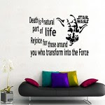 Wall Decals Death Is A Natural Part Quote Star Wars Yoda Decal Vinyl