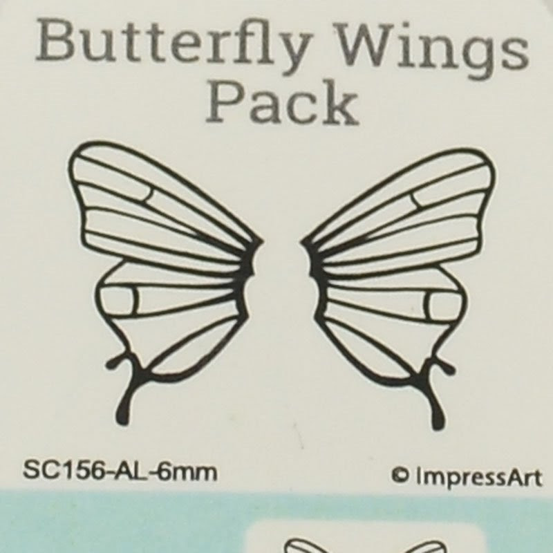 s44150 ImpressArt Stamps - 6 mm Design Stamp/Punch - Butterfly Wings (1)