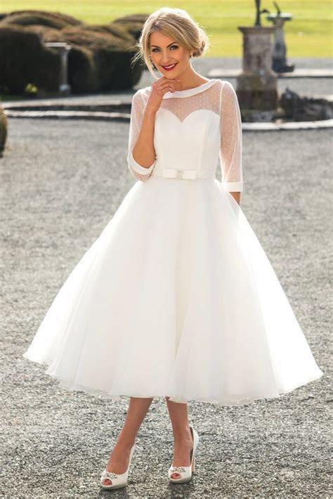Tea Length Short Wedding Dresses   Wedding Dresses Sussex