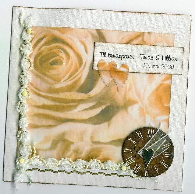 Bryllupskort fremside