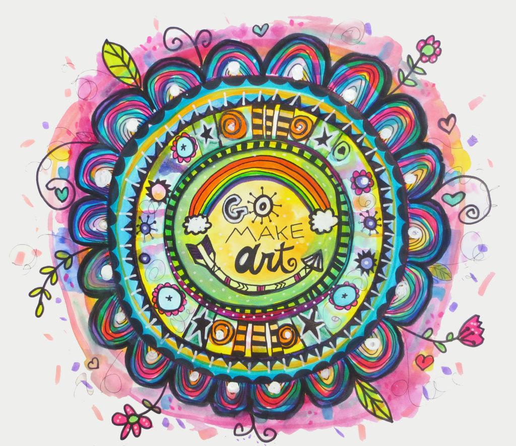 Go Make Art Watercolor Mandala