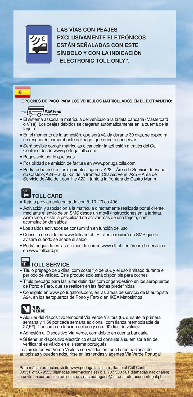 PEAJES ELECTRÓNICOS EN PORTUGAL, DESDE VIGO - Little Vigo