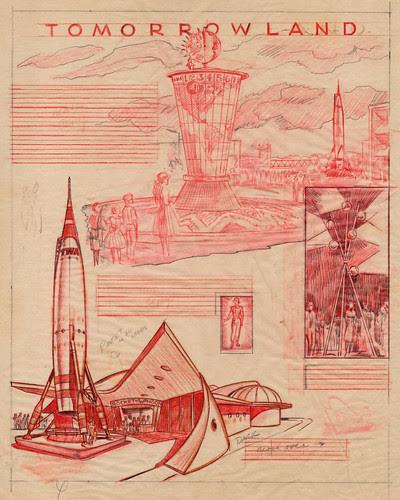 Disneyland Tomorrowland Illustrations 1955