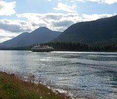 Alaska State Ferry approaching Petersburg