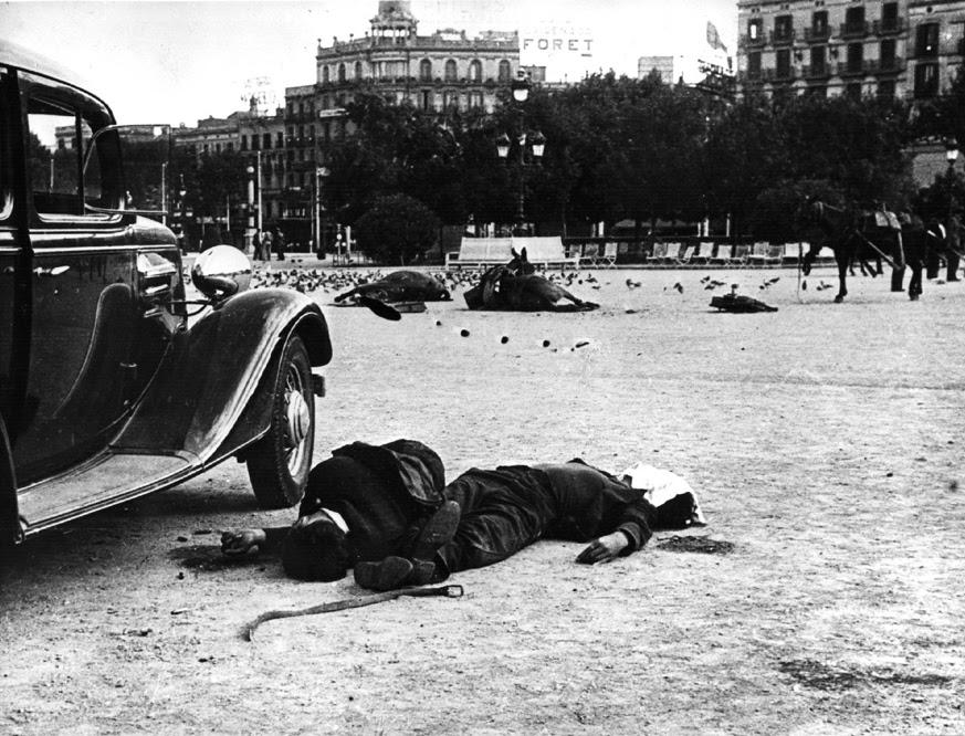 La plaza de Cataluña de Barcelona en 1936