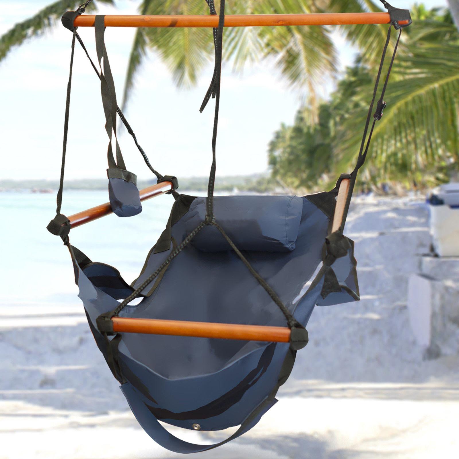 New Deluxe Hammock Hanging Patio Tree Sky Swing Chair ...